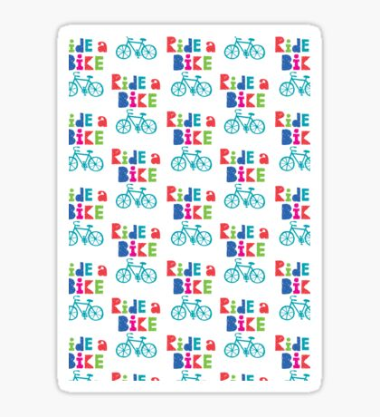 Ride a Bike Sketchy white  Sticker