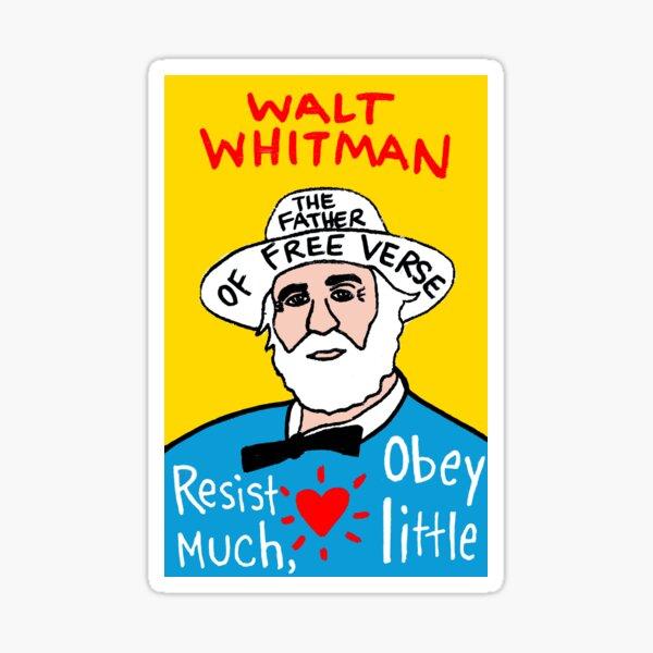 Walt Whitman pop folk art Sticker