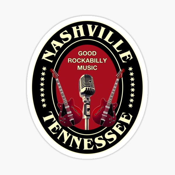 Vintage Rockabilly Nashville Sticker
