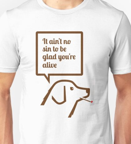 Smoking dog quotes Springsteen Unisex T-Shirt