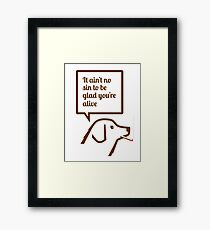 Smoking dog quotes Springsteen Framed Print