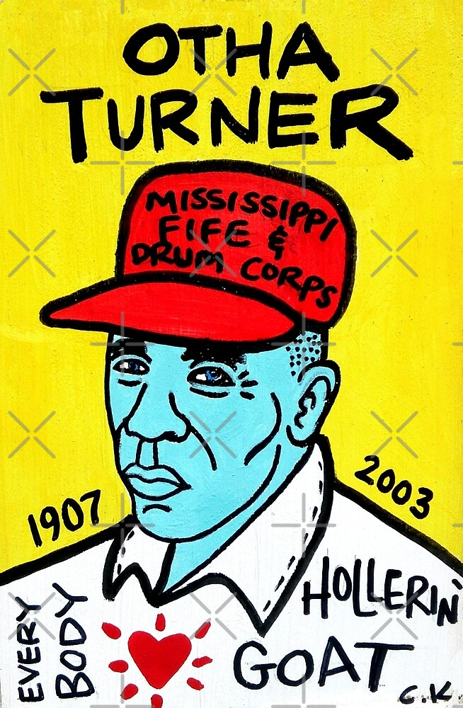 Otha Turner Blues folk art by krusefolkart