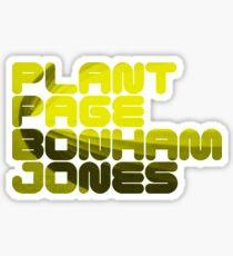 Plant Page Bonham Jones Sticker