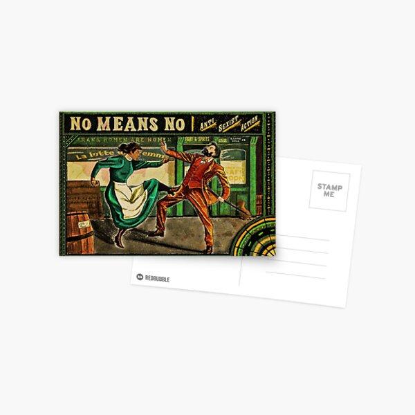Non c'est Non - MeToo Poster anti sexiste Carte postale