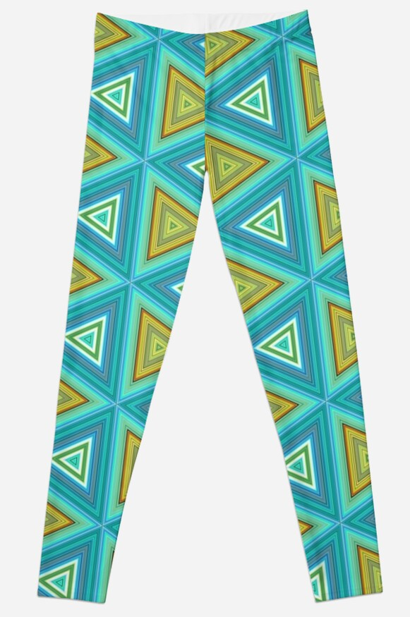 Yellow blue triangles pattern by dutchstranger
