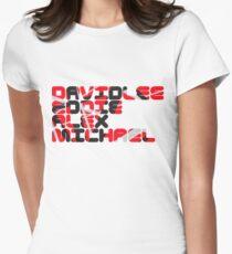 David Lee Eddie Alex Michael Womens Fitted T-Shirt