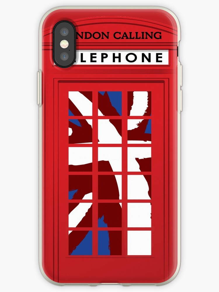 buy online becca 75700 'London Calling, Vintage Phone Booth, Union Jack' iPhone Case by MetroEvents