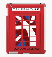 London Calling, Vintage Phone Booth, Union Jack iPad Case/Skin