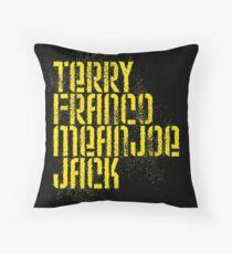 Terry Franco Mean Joe Jack / Black Throw Pillow
