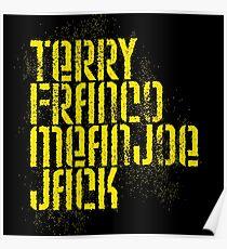 Terry Franco Mean Joe Jack / Black Poster