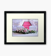 Waiting for the Bride and Groom Framed Print