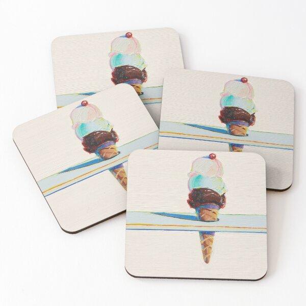 Wayne Thiebaud - Single Triple Decker Coasters (Set of 4)