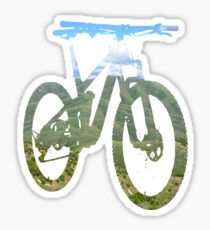Mountain Bike Mountain and Sky - MTB Collection #003 Sticker