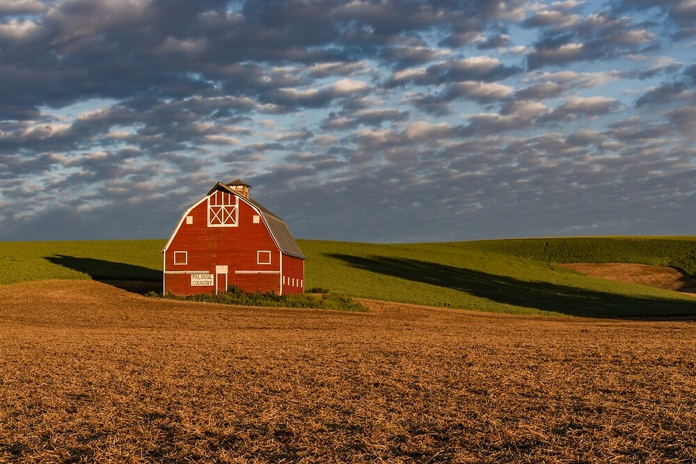 Palouse Country Barn with Shadows by Zigzagmtart