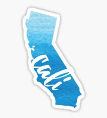 California - Blue Watercolor Sticker