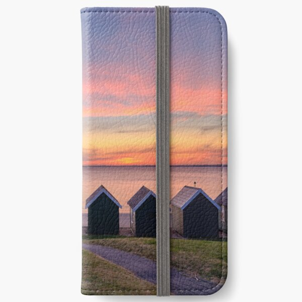 Gurnard Beach Hut Sunset Isle Of Wight iPhone Wallet