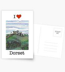 I love Dorset 2 Postcards
