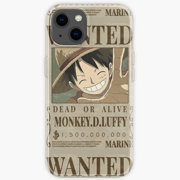 One piece - Luffy Wanted Poster iPhone Soft Case