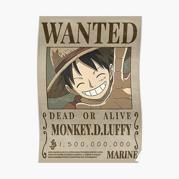 One piece - Luffy Wanted Poster Poster