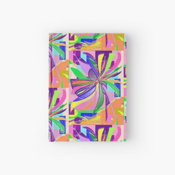 Flower Wrap Abstract Art Design - Bubble Multi Hardcover Journal