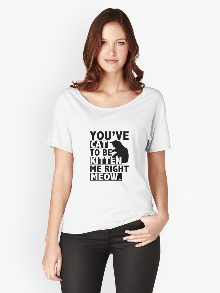 I Love Cats Women's Relaxed Fit T-Shirt Front