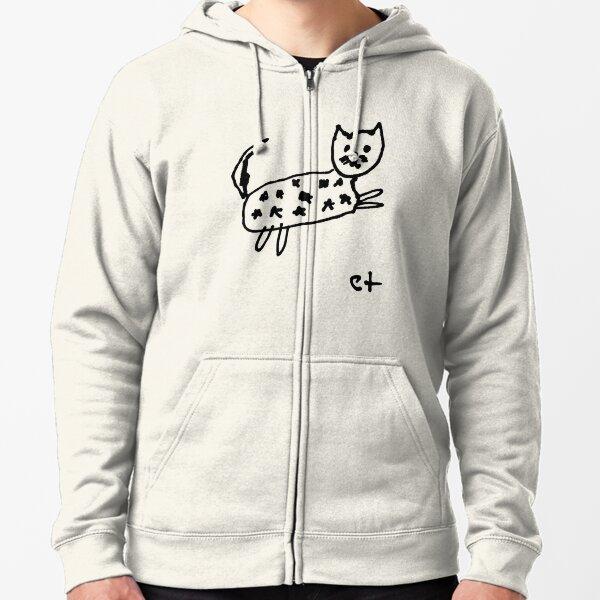 starry cat Zipped Hoodie