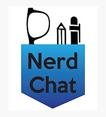 Nerd Chat Podcast Logo (Gradient) Photographic Print