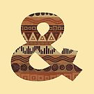 Letter & Ampersand Leather Look Pattern Tribal Ethnic Monogram Initial by theartofvikki