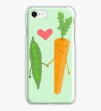 Peas & Carrots in love iPhone Case/Skin