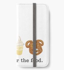 Here for the food. iPhone Wallet/Case/Skin