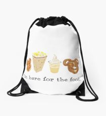 Here for the food. Drawstring Bag