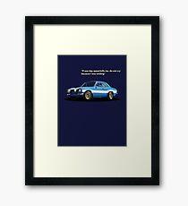 Blue Mexico Tribute Framed Print