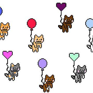 Cat Balloons by auroraflorealis