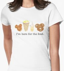 Here for the food. Women's Fitted T-Shirt