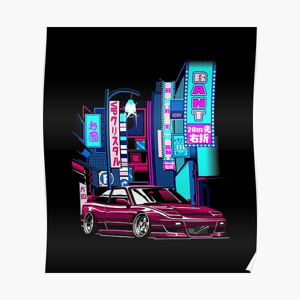 Nissan 180sx 240sx in City Poster