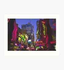 Melting in Times Square Art Print