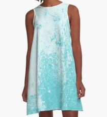 Earth Sweat Design (Shakespeare Blue Color) A-Line Dress
