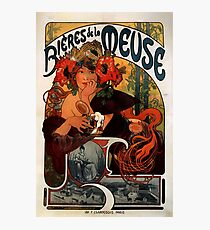 'Bieres de la Meuse' by Alphonse Mucha (Reproduction) Photographic Print