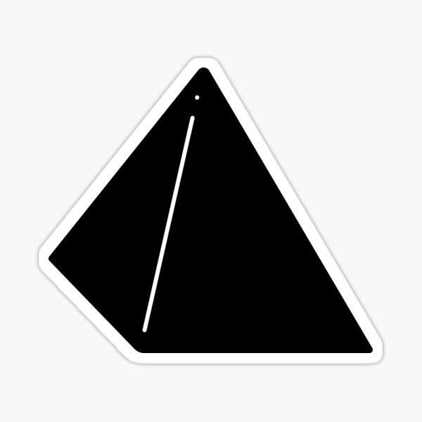 Shapes Pyramid - Minimalistic Vector Art Sticker