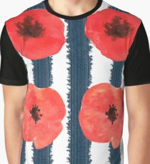 Poppies. Watercolor on paper Graphic T-Shirt