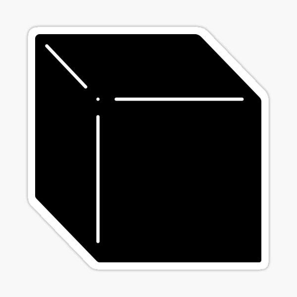 Shapes Cube - Minimalistic Vector Art Sticker