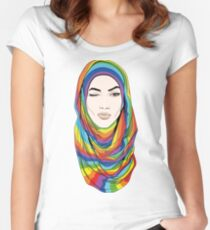 Rainbow Hijab Women's Fitted Scoop T-Shirt