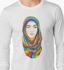 Rainbow hijab Long Sleeve T-Shirt