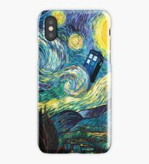 Tardis Starry Night iPhone Case