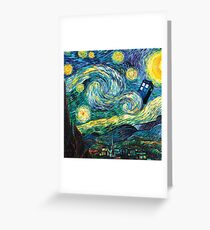 Tardis Starry Night Greeting Card