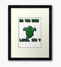 LINUX BRO Framed Print
