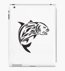 Giant Trevally Jumping Tribal Art iPad Case/Skin