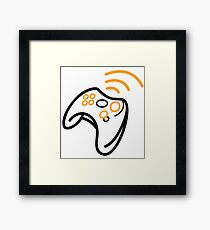 gamer console Framed Print