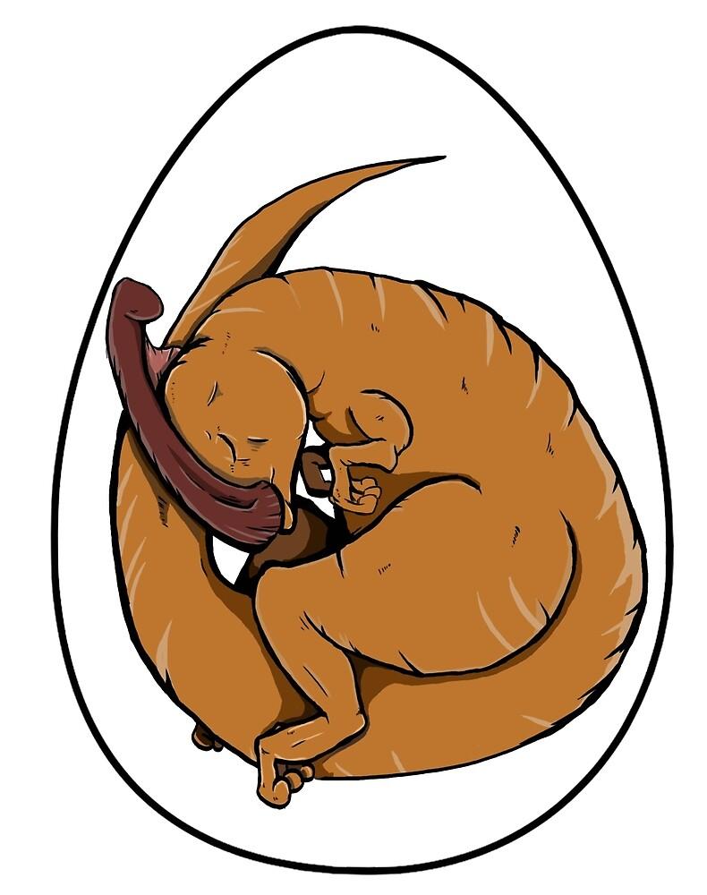 Baby Parasaurolophus by sammyuel
