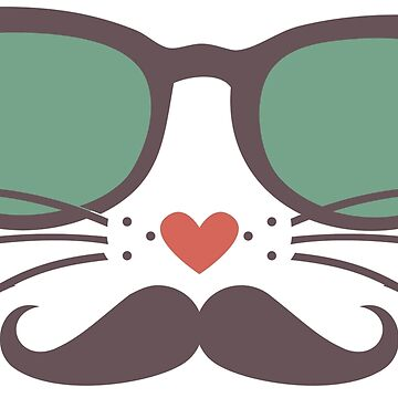 Cute cat design in sunglasses by sassafrascal